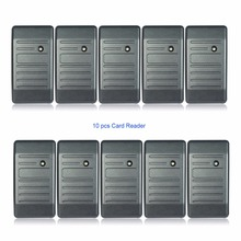 10pcs Waterproof Proximity Card Reader Wiegand 26/34 EM-ID 125KHz Reader&ABS Shell Door Access Control System F1693H