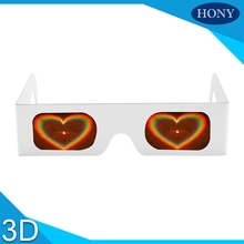 High Quality Cheap Holidays Party Rainbow Fireworks Rave Paper Heart Diffraction Glasses With Heart Diffraction Lens 100pcs/lot(China)