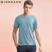 Giordano Men T-shirt Short Sleeves 2017 Cotton Tees Simple Plain Color Cotton T-shirts Ribbed crewneck Soft Brand Clothing