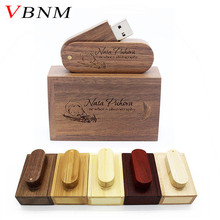 VBNM (over 10 PCS free LOGO) Wooden USB+ box USB Flash Drive pendrive 8GB 16G 32GB Memory stick for photography wedding gift(China)
