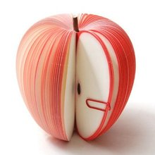 10 pcs random South Korea stationery wholesale lovely fruit Creative red apple memo pad post-it notes