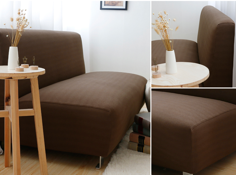 Japanese style stretch cotton cloth all-inclusive without armrest sofa cover sofa bed cover<br>