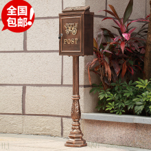 upright Cast Iron Mailbox Postbox Mail Box Wall Mount Metal Post Letters Box Rustic Country Cast Iron Mail Box Garden decor(China)