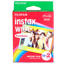 Genuine Fujifilm Instax Wide Film Rainbow 20 Sheets Photo Paper For Fuji Polaroid Instant Camera 300 / 200 / 210 / 100 / 500AF