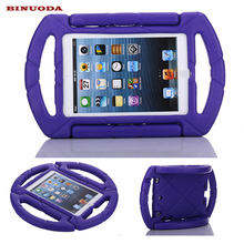For Fundas iPad Mini 4 Cases Cover Kids Shock Proof Steering Wheel Case with Handle for Apple iPad Mini 1 2 3 4 7.9inch Tablet(China)