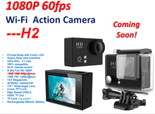 A nice choice !Freeshipping H2R H2 waterproof action camera 1080P WIFI remote control high cost performance sports camera