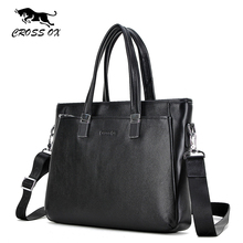 CROSS OX 2016 New Design Men's Briefcase Portfolio For Men Satchel Genuine Leather Shoulder Bags For Men 14' Laptop Bag HB558M