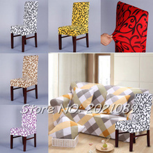 Timelive new chair cover wedding decoration printed dining spandex strech party home room chair covers protector decor(China)