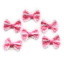 Armi store Handmade Polka Dot Lace Ribbon Princess Bow 29018 Pet Bow Dog Show Supplies Wholesale