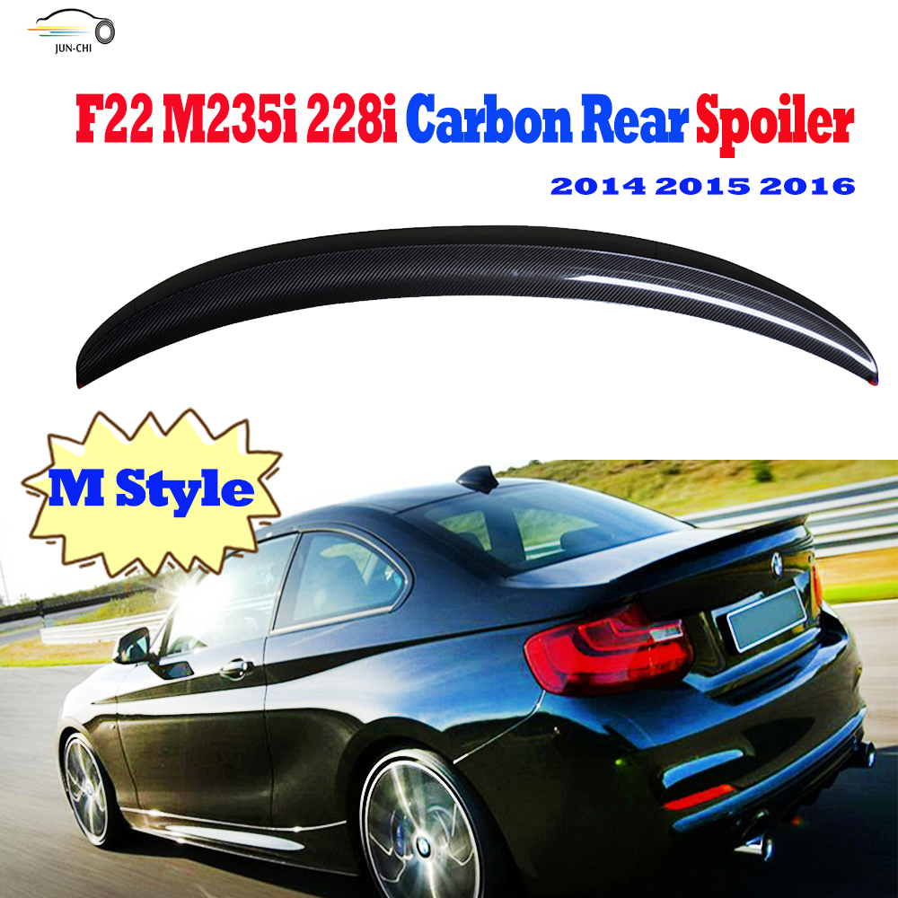 F22 Carbon Fiber Rear Wing Spoiler for BMW F22 M235i 228i 2014 2015 2016 Auto Racing Car Styling Tail Trunk Lid Lip Wing Spoiler<br><br>Aliexpress