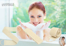 1pcs Natural loofah pull strap Bathing products loofah body brush for bathing Home must clean loofah D5(China)