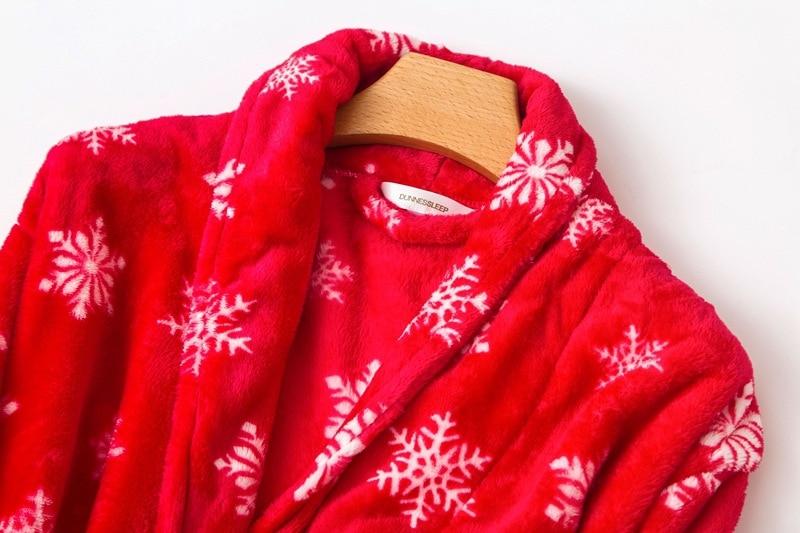 flannel nighgown women red (1)