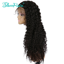 Full Lace Human Hair Wigs For Black Women 150% Remy Peruvian Deep Curly Lace Wigs With Baby Hair Bleached Knots Slove Rosa Hair(China)