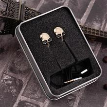 Fashion Design Skull Earphone in Ear Headset for Phone PC mp3 mp4 Devil Christmas Earplugs(China)