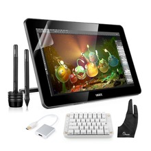 "Ugee HK1560 15.6"" IPS Art Drawing Graphics Monitor Art Drawing + Mechanical Keyboard+ USB 3.0 to HDMI Adapter+ Two-Finger Glove"