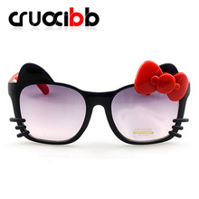 CRUOXIBB High Quality Kids Sunglasses Children Princess 2017 New Fashion Cute Baby Lovely Sun Glasses Summer Goggles Wholesale(China)