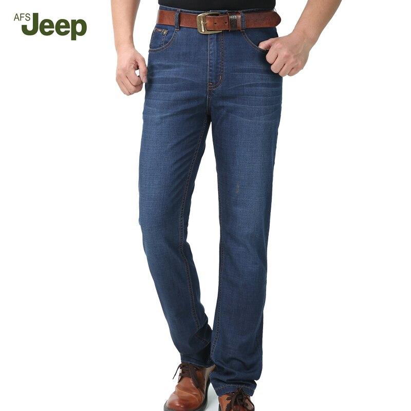 New listing Men Jeans Cotton Slim Pants Casual Fashion Straight Foot Jeans 2017 ASF JEEP Mens Tide Jeans Han Edition 75Îäåæäà è àêñåññóàðû<br><br>