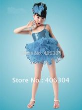 Free shipping .Children ballet dress with headband,kid's costume,Children wedding dress,Prom dresses 2012(China)