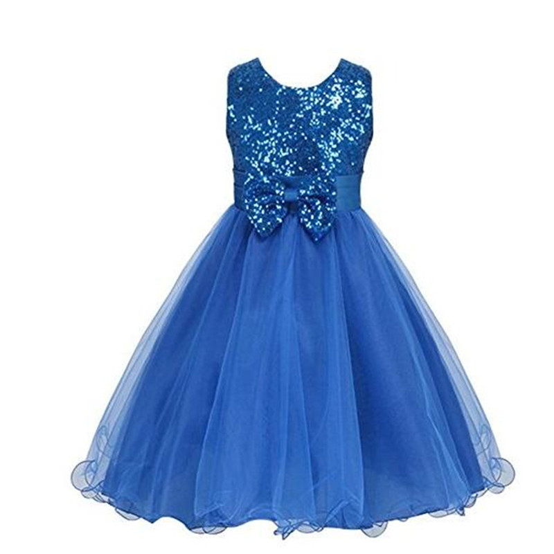 4 Colors Sequines Bowtie Girls Prom Dress For Halloween Christmas Princess Girls Lace  Wedding Dresses Ball Gowns for Children<br><br>Aliexpress