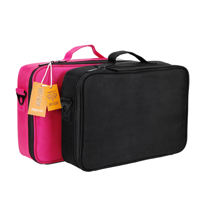 HHYUKIMI Makeup Brush Bag Case Make Up Organizer Toiletry Storage Cosmetic Bag Large Nail Art Tool Boxes With Portable Bolso<br>