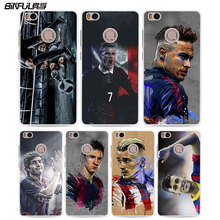 BiNFUL football player messi cr7 neymar hard White phone Case Cover for Xiaomi Mi 6 5s 4c 4s for Xiaomi Redmi Note4 4X 3s 4A(China)