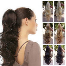 190g Synthetic Long Curly Claw Drawstring Clip False Ponytail natural Hair Extension Fake Tress Hairpieces My Little Pony Tail