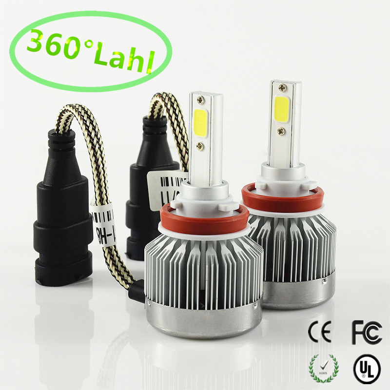 2017 H8 H9 H11 CAR LED Headlights COB 60W 6000LM/SET AUTO MOTOCYCLE HEADLIGHT HEADLAMP KIT Front Bulb Automobiles Headlamp 6000K<br><br>Aliexpress