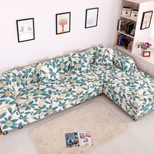 Universal Stretch Plants L Shape Sofa Covers For Living Room 2pcs Sectional Sofa Covers Polyester Corner Sofa Slipcovers Plush