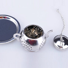 New Design Stainless Steel Tea Leaf Infuser Strainer Ball Loose Mesh Filter Spice Herb