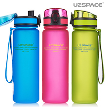 Uzspace Water Bottle Tritan Material My Sports Drink Plastic Bottle 350ml 500ml 650ml 1000ml Bpa Free