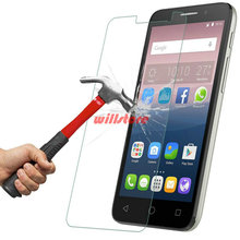 Tempered Glass Screen Protector CASE for Alcatel One Touch Pop 2 3 4 4+ 4S D3 D5 S7/Pixi 3 4 4.0 4.5 5.0 5.5 6 First Film