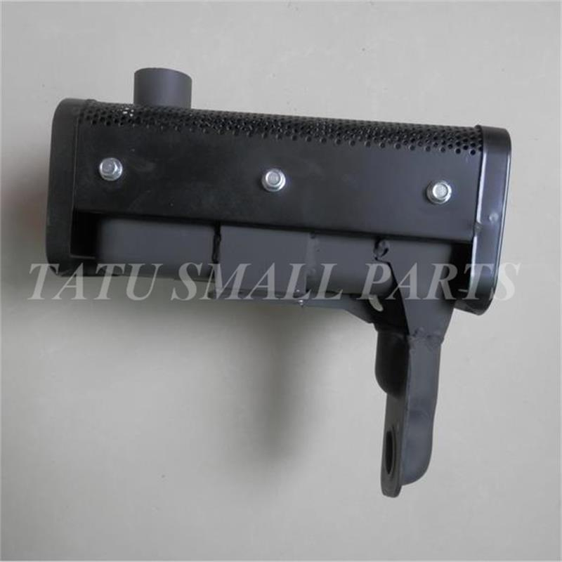 EXHAUST MUFFLER FOR  178F DIESEL   TILLER MUFFER  W/  SHIELD &amp; MANIFOLD PIPE  ROTARY CULTIVATOR PARTS<br>