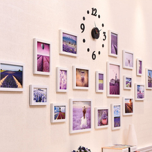 European pictures frame wall combination photo frame Modern Photo Wall decoration home decor Wall clock