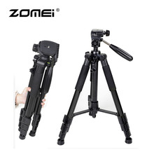 Zomei Q111 Professional Aluminum Folding Portable Travel Tripod with 3-way Pan Head Bag for SLR DSLR Camera Black