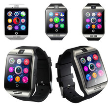 Q18S 1.54 inch Smart Bluetooth Watch GSM Camera TF Card Wristwatch Hnadfree for Cell phone IOS Android Tablet PC Wholesale