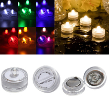 20pcs/lot  Multicolor Waterproof Submersible LED Tea Light Candle Light for Wedding Party Christmas Decorations