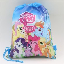 Baby Shower Party Gift Bags Kids Favors Birthday Theme Decoration Drawstring Supplies My Little Pony Non-Woven Fabric Backpack(China)