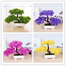 Mini three-pronged welcome table set up a small bonsai plant for small bonsai plant artificial flowers(China)