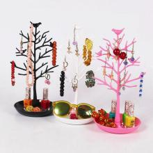 Creative Key Nail Polish Pendants Rings Earrings Hanger Jewelry Rack Organizer Shelf Glasses Display Rack Bird Tree Shape A20(China)