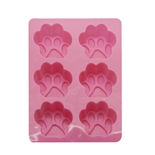 Fashion Cake Soap Cookies Chocolate Baking Tin Cut Cat Dog Paw Silicone Fondant Mold Hot Sale(China)