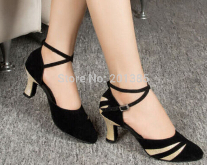 New Black  Suede Closed Toe Ballroom Salsa Latin Waltz Smooth Dancing Dance Shoes Tango Dance Shoes<br><br>Aliexpress