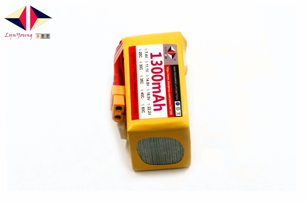 1300mAh 40C 6S 22.2V LYNYOUNG Lipo battery for RC Storage Boats Tank Helicopter Glider Drone Airplane AKKU Quadcopter Car Truck