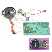 FM Frequency Modulation Wireless Microphone Module DIY Kit FM Transmitter Board Parts Kits Simple Electronic Production Suite
