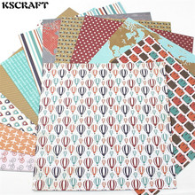 "KSCRAFT 12pcs 6"" Single-side Printed World Travel pattern creative papercraft art paper handmade scrapbooking kit set books(China)"