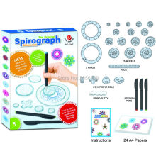 Spirograph Drawing toys set with 3pcs Pens + 22 Accessories Draw Spiral Designs Interlocking Gears & Wheels, For Adults and Kid(China)