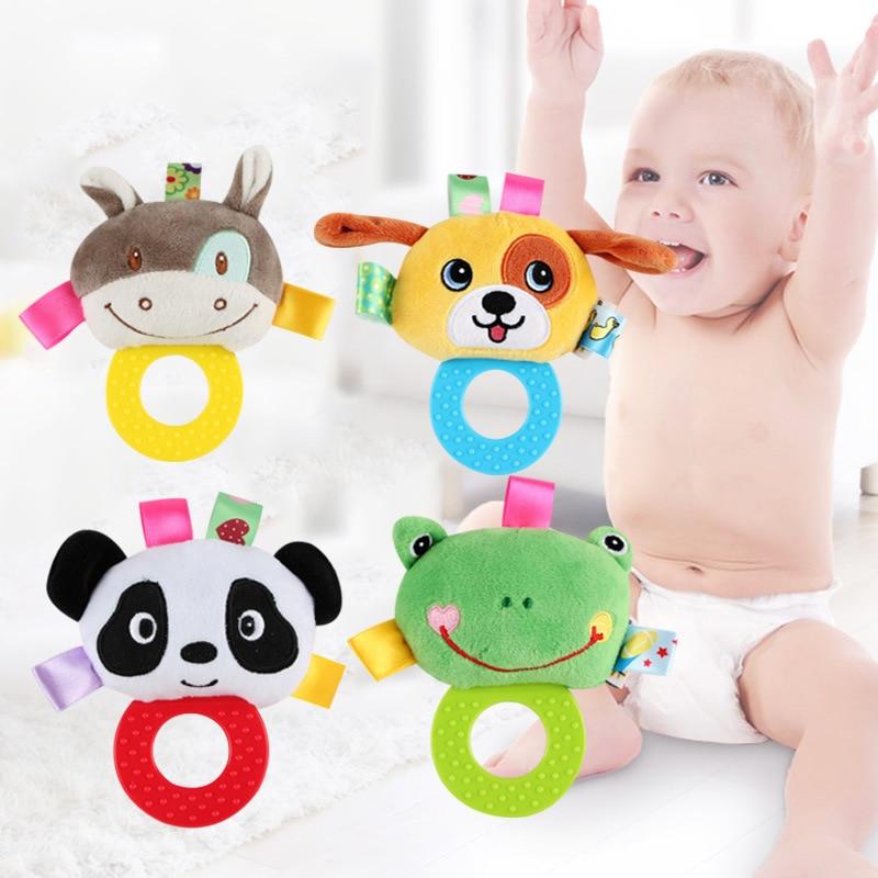 Baby Rattle Teether White Unicorn Soft Plush Toy Newborn Babies Teething 2 Pack