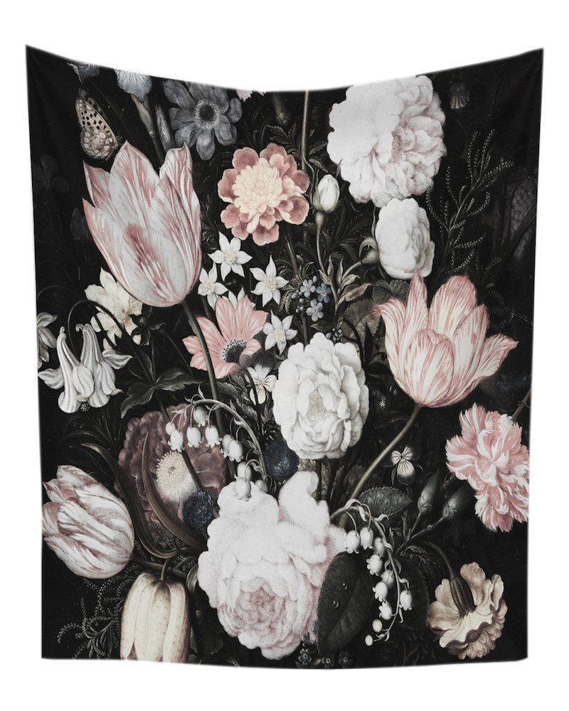WINLIFE Blossoms Wall Tapestry Flowers Print Home Decor 57