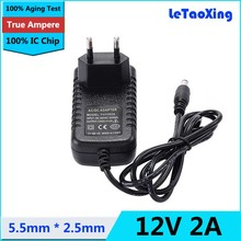 AC 100-240V To DC 12V 2A Power Adapter Supply Transformer EU Plug For 3528 5050 5360 LED Strip Light CCTV Cameras(China)