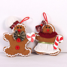 Gingerbread Man Christmas tree decorative plush small hanging pendant cloth doll ornaments christmas decoration for home
