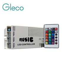 9A 12-24V 24 Keys Wireless IR Remote RGB Control LED Music Sound Control RGB led Controller Dimmer for RGB LED Strips